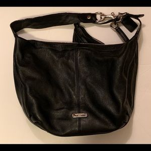 Womens Coach Black Purse Avery Pebbled Hobo